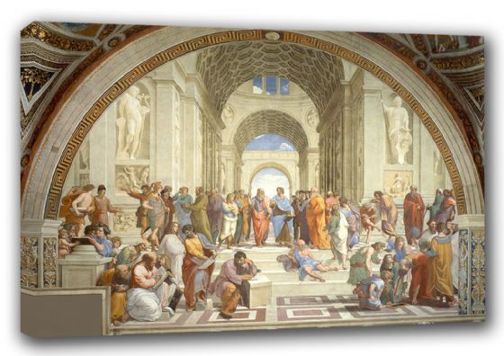 Raphael: The School of Athens. Fine Art Canvas. Sizes: A3/A2/A1 (00244)